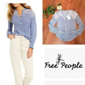 NWT Free People Easy Breezy Henley